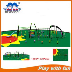 Newest Outdoor Playground Equipment with Climbing Frame pictures & photos