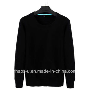 High Quality Casual Fashion Round Neck Pure Color Sweater pictures & photos