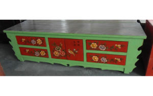 Chinese Reproduction Wooden Painted TV Cabinet TV241 pictures & photos