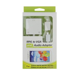Mhl to VGA and Audio Adapter for Samsung HTC LG pictures & photos