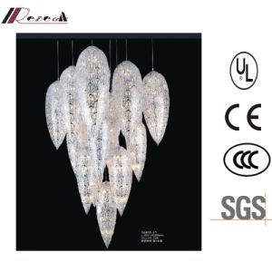 Euroepean Hotel Decorative Luxury Stainless Steel Crystal Pendant Lamp pictures & photos