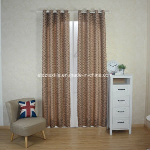 European Prefer Linen Like Jacquard Window Curtain pictures & photos