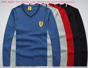 Men′s Knitted Pullover Cotton Sweater (knitwear) (0200) pictures & photos