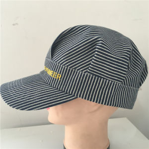 Fashion Train Engineer Military Cap with Embroidery pictures & photos