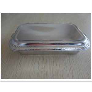 Eco-Friendly Airline Catering with Cover for Meal Foil Tray pictures & photos