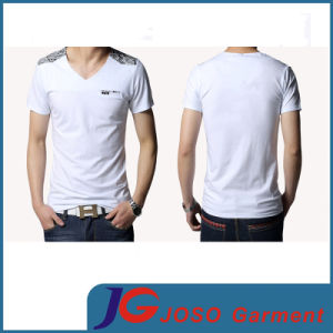 Simple Style White T-Shirt for Men (JS9033m) pictures & photos