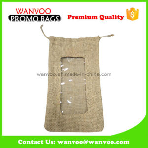Customized Jute Cotton Drawstring Bag for Gift Packing pictures & photos