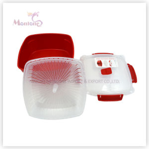 BPA Free 2.47L Food Grade Plastic Microwave Steamer pictures & photos