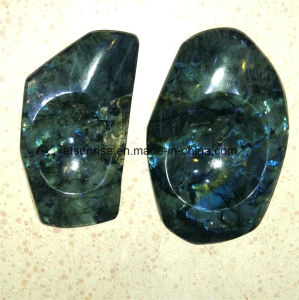 Semi Precious Stone Fashion Natural Crystal Labradorite Ashtray Candle Holder Gift pictures & photos