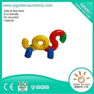 Children′s Plastic Puzzle Game, Intellectual Building Brick Toy with CE/ISO Certificate