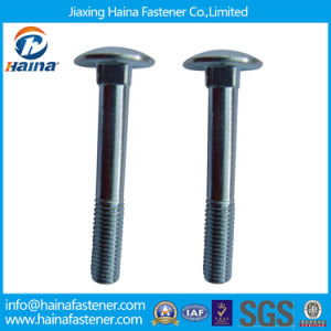 White Blue Zinc Plated Carriage Bolt with Partial Thread pictures & photos