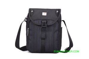 Anti Theft Nylon Messenger Shoulder Bag With Ipad Compartment