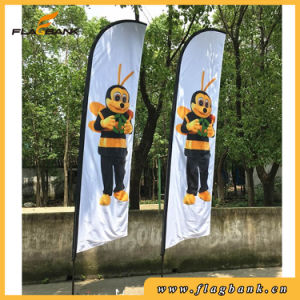 4.5m Tradeshow Aluminium Double Side Printing Feather Flag/Flying Flag pictures & photos