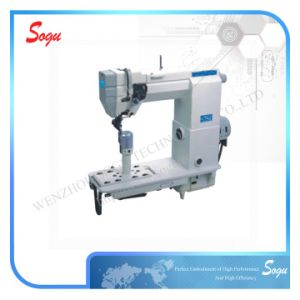 Post-Bed Single Needle Sewing Lockstitch Machine pictures & photos
