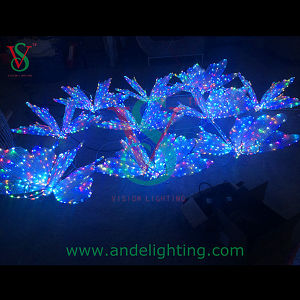 High Quality Colorful LED Butterfly Light Holiday Decoration pictures & photos
