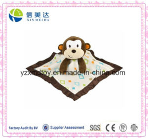 Adorable Plush Monkey Safe Soft Blanket with Stuffed Head Toy pictures & photos