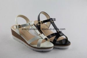 T-Strip Shoes Women Fashion Sandal with Platform pictures & photos