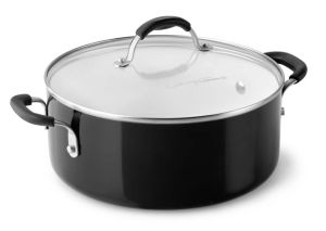 Amazon Vendor Ceramic Nonstick Cookware Chili Pot 5 Quart Black pictures & photos