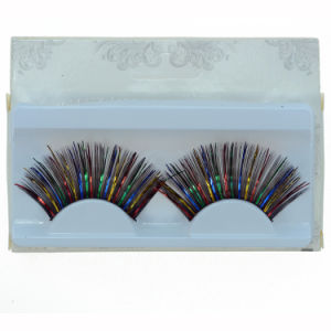 Colorful Creative Makeup Eyelash Stage Cosplay False Eyelashes pictures & photos