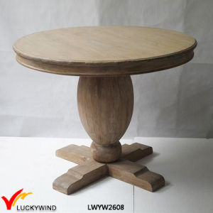 Wood Pedestal Brown Table pictures & photos
