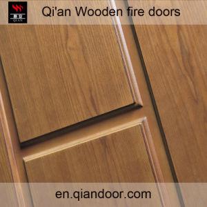 Fraxinus Mandshurica Fire-Rated Timber Door pictures & photos