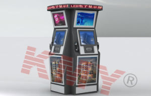 Customized Interactive Dual Touch Screen Kiosk for Air Port Use pictures & photos