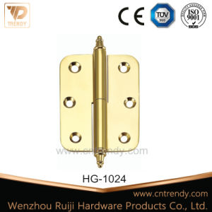 Furniture Hardware, Round Corner Lift off Brass Hinge pictures & photos