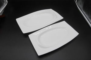 "Ceramic Dishes for Hotel Restauran 14 ""Golden Eye Plate of The Long Square pictures & photos"