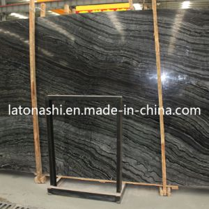 Chinese Antique Wood Stone Marble, Black Vein Marble Floor Tile pictures & photos