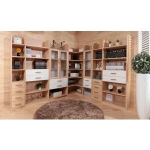 Oppein Large Storage Melamine Wooden Corner Bookshelf (SG11134A) pictures & photos