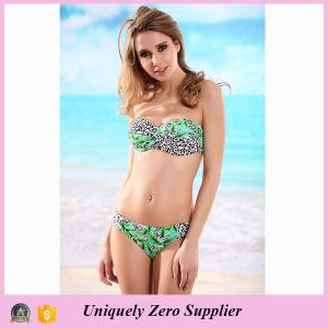 2016 New Design Sexy Leopard Print Two Piece Set Tankinis Bikini pictures & photos