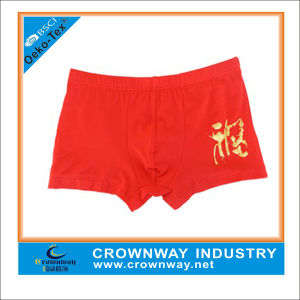High Quality Printing Red Boxer Shorts for Men Underwear pictures & photos