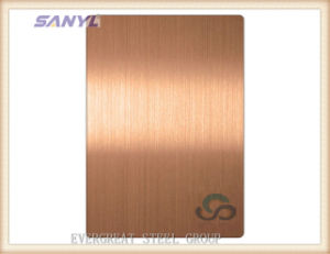 Stainless Steel Mirror Rose Golden Sheet pictures & photos