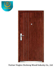 Fasion Armoured Door (Brown) pictures & photos