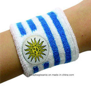 Custom Made Sport Sweat Wristband pictures & photos
