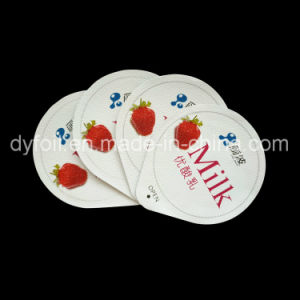 Pre Cut Aluminum Foil Lid for Dairy Product Packaging pictures & photos