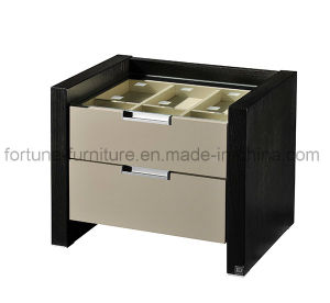Wooden 2 Drawers Nightstand with Jewel Case 560*433*462 (I&D-N10172) pictures & photos
