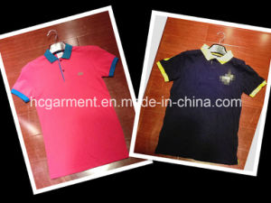 Strip Cotton Solid Color Printed Polo T-Shirt for Man/Women pictures & photos