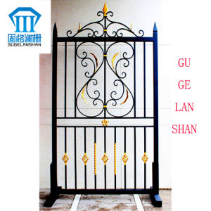 High Quality Crafted Wrought Single Iron Fence 037 pictures & photos