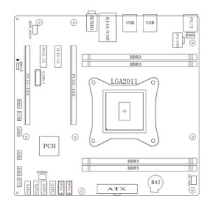 Support Reg Ecc LGA2011 Socket X79 Motherboard for Server pictures & photos