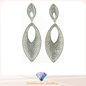 Big Size Fashion Minimalist Diamond 925 Silver Jewelry Earrings E6656 pictures & photos