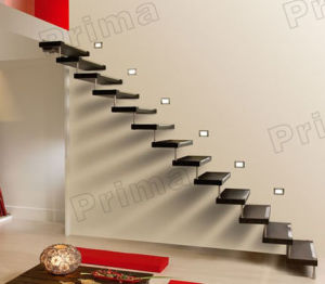 Solid Wood Steps Straight Staircase / Wood Stair Case pictures & photos