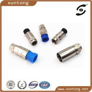 CATV Connector F Connector for RG6 Connector Coaxial Cable pictures & photos