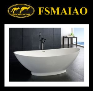 Beautiful Curve Freestanding Solid Surface Bathtub (BS-8609) pictures & photos