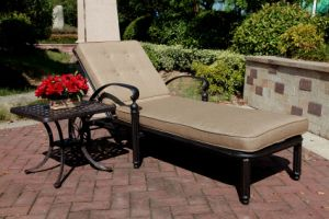 Garden Chaise Lounge Cast Aluminum Furniture pictures & photos