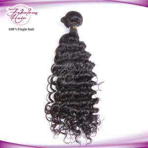 Deep Wave Virgin Brazilian Hair Weaving 100% Human Hair pictures & photos