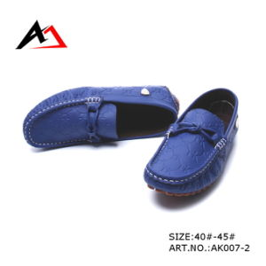 Leather Casual Shoes Fashion Wholesale Footwear for Lady (AK007) pictures & photos