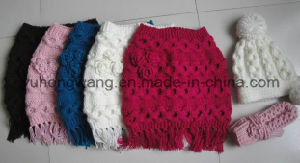 Promotion Lady Winter Warm Knitted Acrylic Set pictures & photos