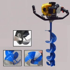60cc Gas Powered Fishing Ice Drill Frozen Earth Auger pictures & photos
