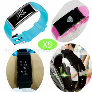 Fshionable Bluetooth Smart Bracelet with Heart Rate/Blood Pressure X9 pictures & photos